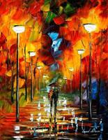 The soul of the park by Leonid Afremov by Leonidafremov