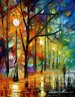 Night mood by Leonid Afremov by Leonidafremov