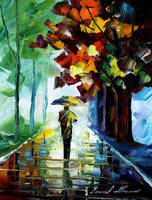 Morning stroll by Leonid Afremov by Leonidafremov