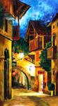 The Street Of Copenhagen by Leonid Afremov by Leonidafremov