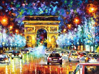 Paris Flight by Leonid Afremov by Leonidafremov