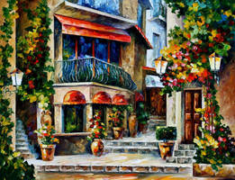 Sicily - spring morning by Leonid Afremov by Leonidafremov