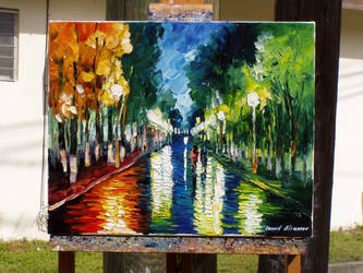 old painting  by Leonid Afremov by Leonidafremov