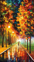 Light of autumn by Leonid Afremov by Leonidafremov
