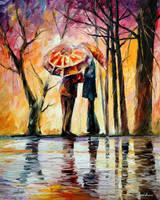Rainy date by Leonid Afremov by Leonidafremov