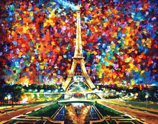 Eiffel Tower by Leonid Afremov by Leonidafremov