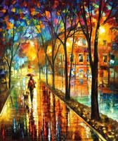 Walk With Dog by Leonid Afremov by Leonidafremov
