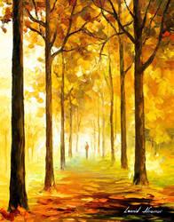 Yellow Mood by Leonid Afremov by Leonidafremov