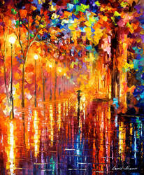 Dreaming rain by Leonid Afremov by Leonidafremov