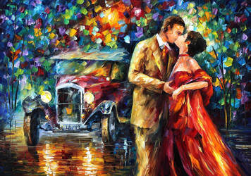 Old kiss by Leonid Afremov by Leonidafremov