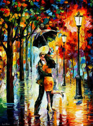 DANCE UNDER THE RAIN by Leonid Afremov by Leonidafremov