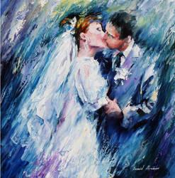 THE REFLECTION OF LOVE by Leonid Afremov by Leonidafremov