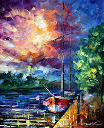 LOST IN TIME by Leonid Afremov by Leonidafremov