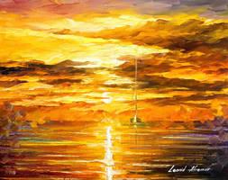 SUNSET OF FEELINGS by Leonid Afremov by Leonidafremov