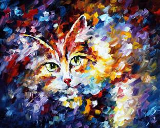 CAT 2 by Leonid Afremov by Leonidafremov