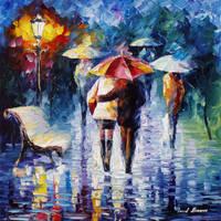 The Blue Rain by Leonid Afremov by Leonidafremov