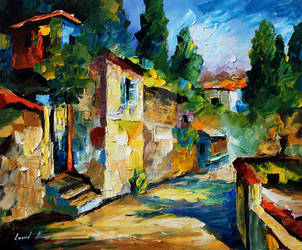 Greece by Leonid Afremov by Leonidafremov
