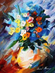 Bouquet by Leonid Afremov by Leonidafremov