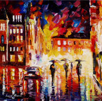 Rain of fire by Leonid Afremov by Leonidafremov