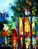 Rain energy by Leonid Afremov by Leonidafremov