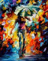 Umbrella by Leonid Afremov by Leonidafremov