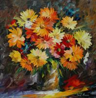 Colors Of Summer by Leonid Afremov by Leonidafremov