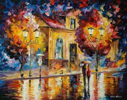 Night Silence by Leonid Afremov by Leonidafremov