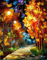 Lights of autumn by Leonid Afremov by Leonidafremov