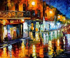 In the city by Leonid Afremov by Leonidafremov