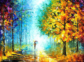 Morning Shadows by Leonid Afremov by Leonidafremov