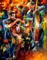 Jazz Duo by Leonid Afremov by Leonidafremov