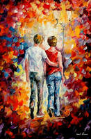 Love Walked In by Leonid Afremov by Leonidafremov