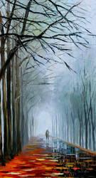 Foggy Path by Leonid Afremov by Leonidafremov