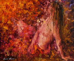 Thoughts Of Pleasure by Leonid Afremov by Leonidafremov