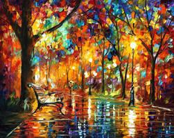 Colorful Night by Leonid Afremov by Leonidafremov
