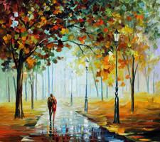 Fall Love by Leonid Afremov by Leonidafremov