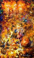 The Music Of The Past by Leonid Afremov by Leonidafremov