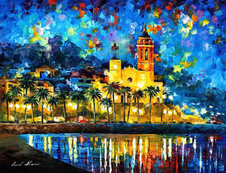 Spain, Sitges by Leonid Afremov by Leonidafremov