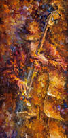 The Sounds Of Bass by Leonid Afremov by Leonidafremov