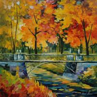Little Bridge by Leonid Afremov by Leonidafremov
