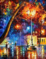 Winter Rain by Leonid Afremov by Leonidafremov
