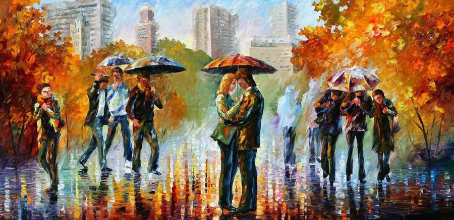 Central Park by Leonid Afremov by Leonidafremov