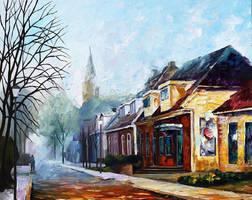 House by Leonid Afremov by Leonidafremov