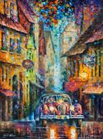 Vintage Car Collection - Piece 2-14 by L.Afremov by Leonidafremov