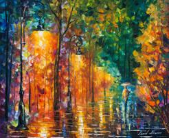 Green Night by Leonid Afremov by Leonidafremov