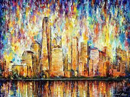 New York City by Leonid Afremov by Leonidafremov