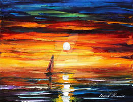 Sunset Tears by Leonid Afremov by Leonidafremov