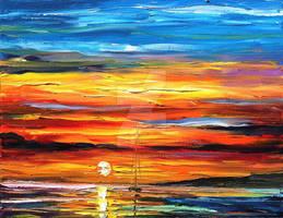 Sunset Time by Leonid Afremov by Leonidafremov