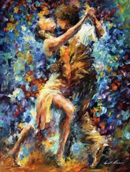 Internal Struggle Of Lust by Leonid Afremov by Leonidafremov