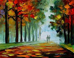 Morning Park by Leonid Afremov by Leonidafremov
